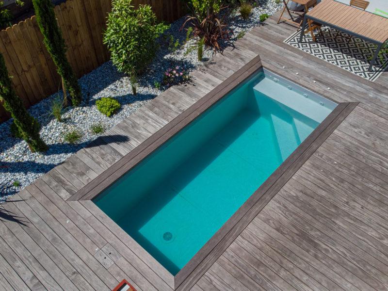 Création d'une piscine haut de gamme - Echoppe à Pessac - Bordeaux Métropole
