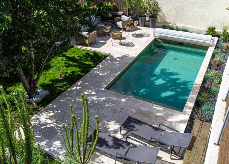 constructeur de piscine à Cenon - accès difficile