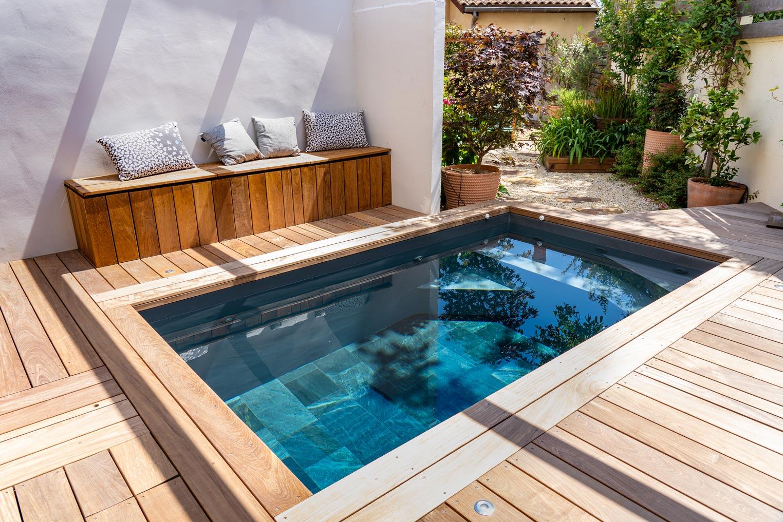 constructeur de piscine au Bouscat pour échoppe