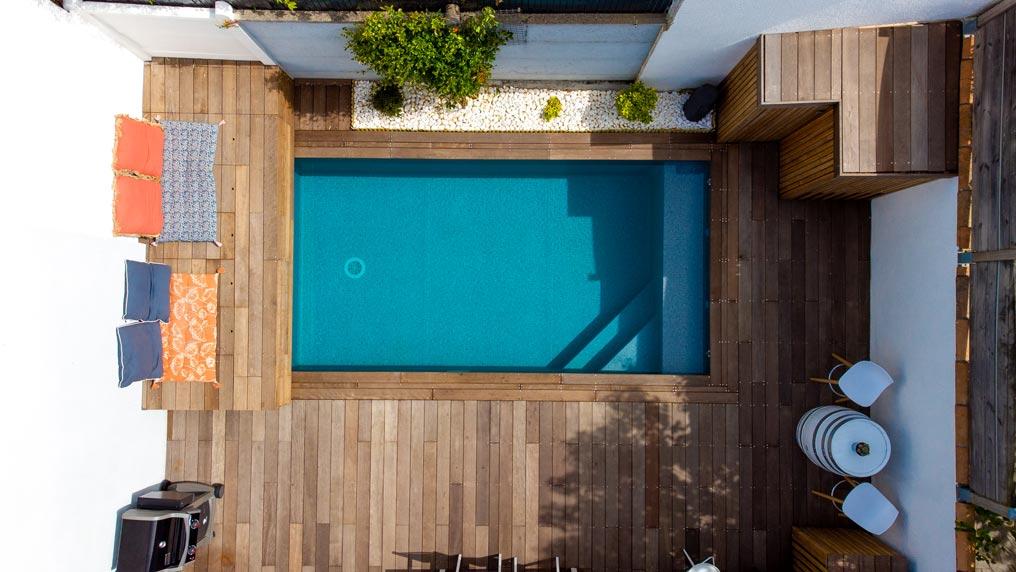 constructeur de piscine à Talence pour échoppe